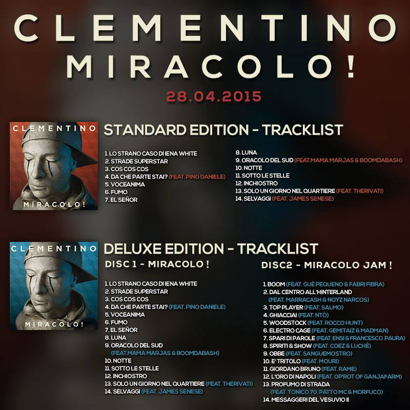 Clementino_Miracolo_Tracklists_Divergenze